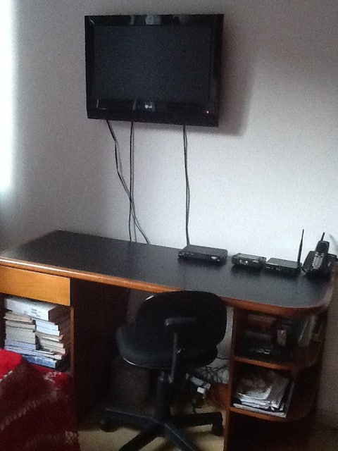 Room with double bed, air conditioning