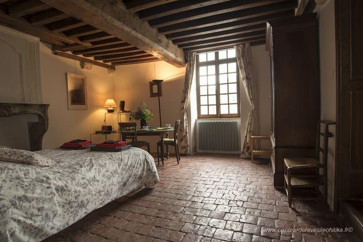 Chambre avec vue sur château d'époque