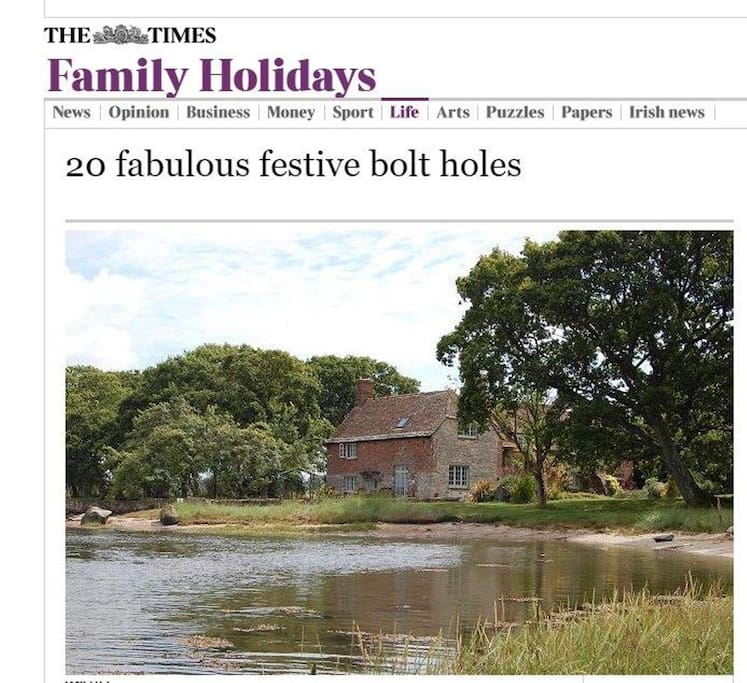 As featured in the Times top 20 bolt holes!