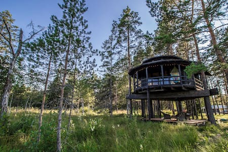 Relaxing treehouse