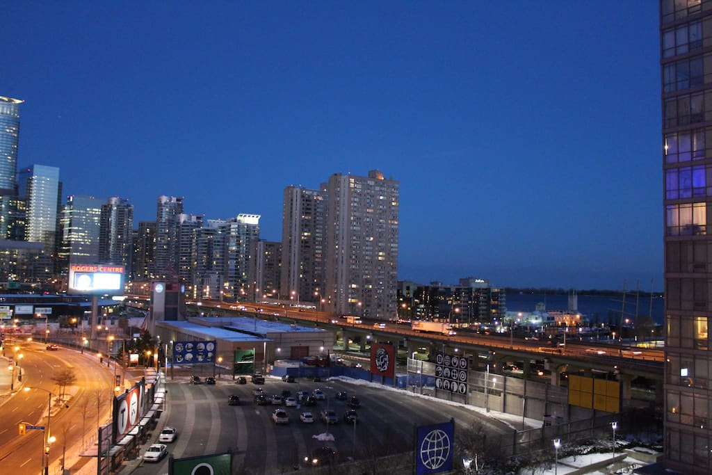 View from balcony. Harbourfront 5 min walk away.