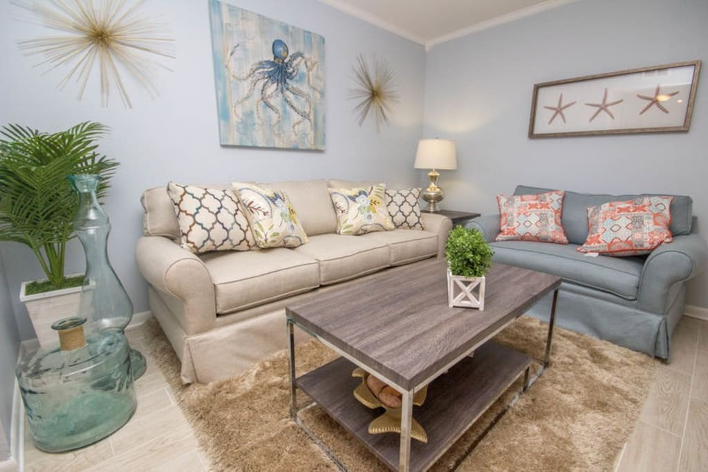 "New Look! The ""30A Look"" was inspiration for this Newly Remodeled Condo!"