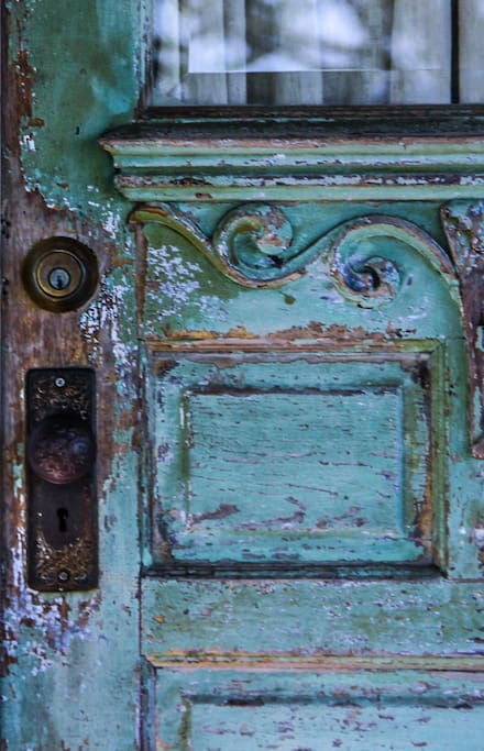 Beautiful antique front door-Cottage.