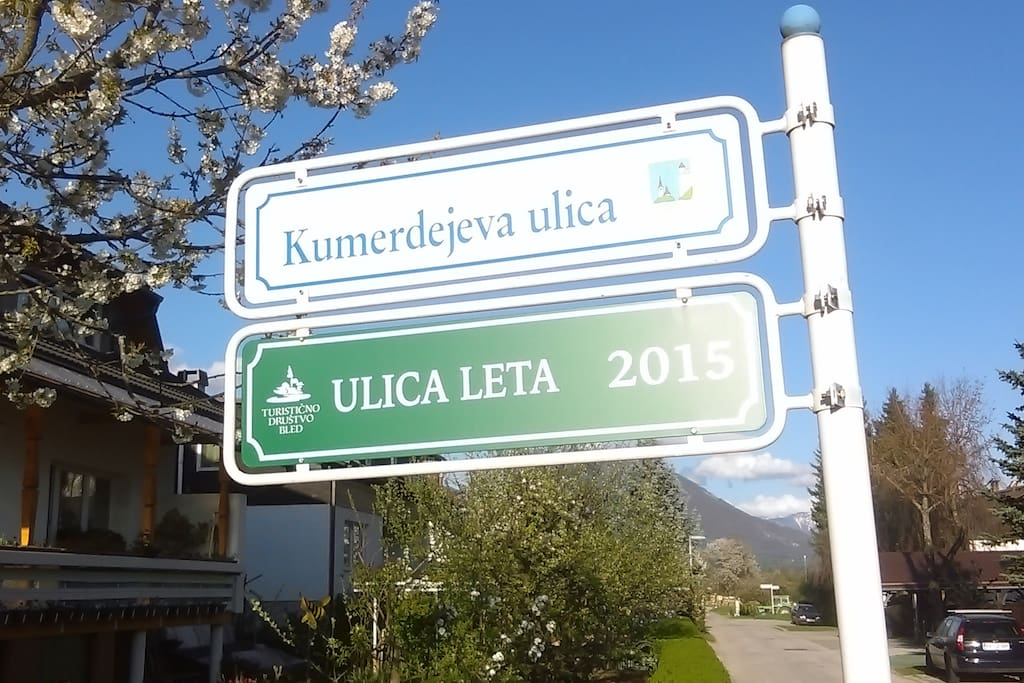 Ranked best street in Bled for 2015! Things are pretty much the same this year.