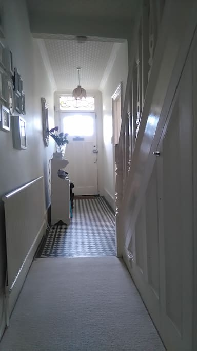 Hallway with original Edwardian tiles