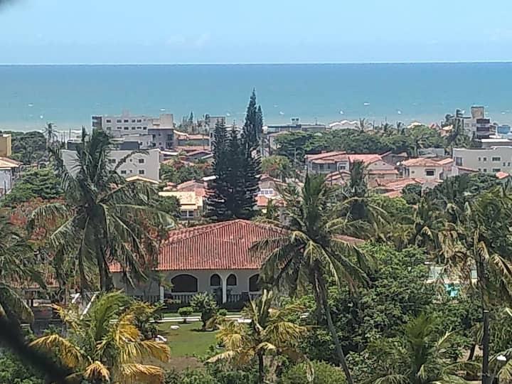 Um belo apartamento com vista para o mar