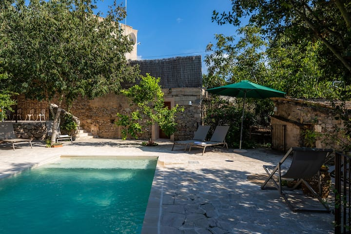 Rural Holiday Home 'Finca Es Badei' with Mountain View, Wi-Fi, Garden, Terraces & Pool; Parking Available