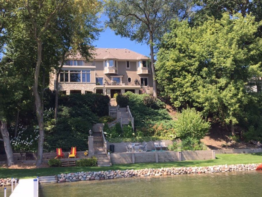 View of the back of the house from the dock
