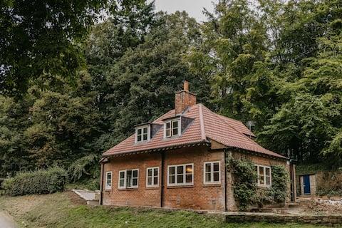 Idyllisk hytte ved elven Tees, Nord Yorkshire