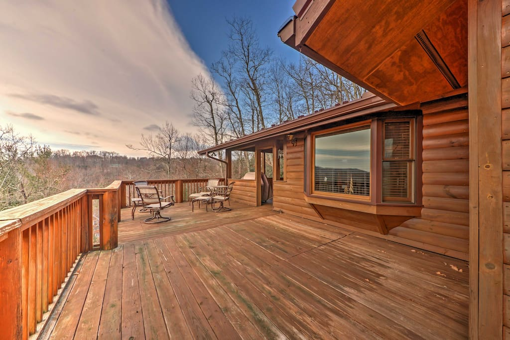 Enjoy spending your evenings lounging on the spacious deck.