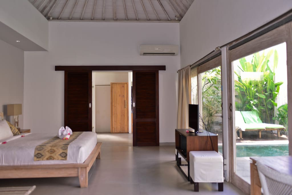 Each villa is a One-bedroom villa with private pool