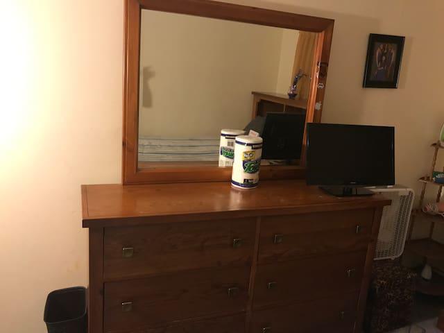 Large room dresser & cable TV