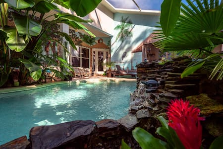 Relaxing Tropical Pool Get Away Suite