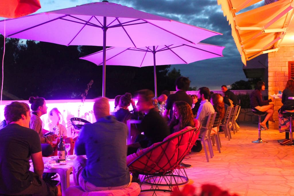 Outdoor terrace with every evening events