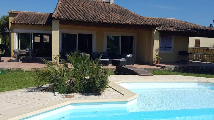 "Villa ""La Crau"", Piscine à Sel, Billard Américain."