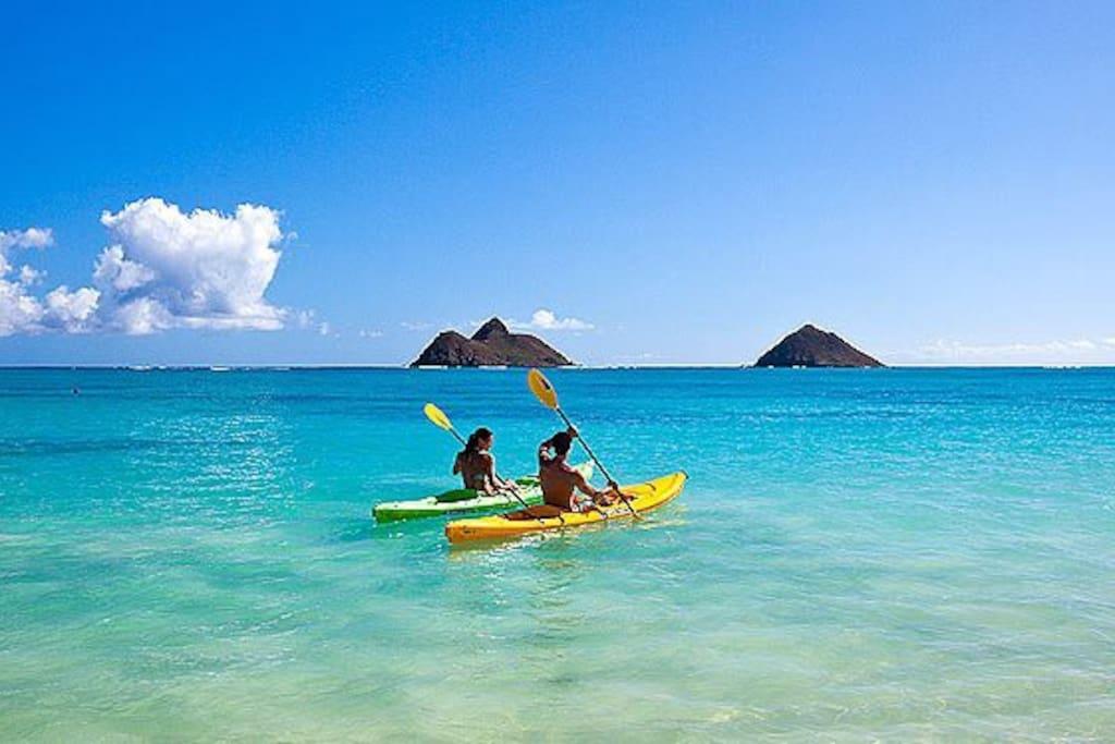 Lanakai Beach is 20 minutes away