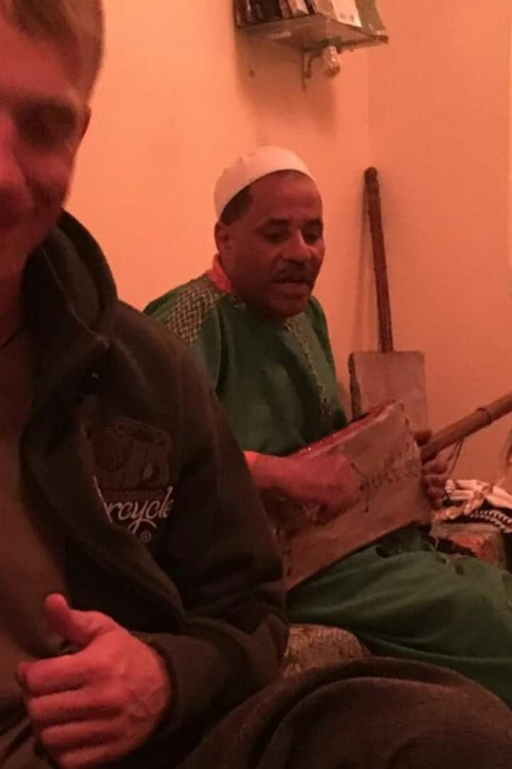 Our Gnoua Maalam (master) playing