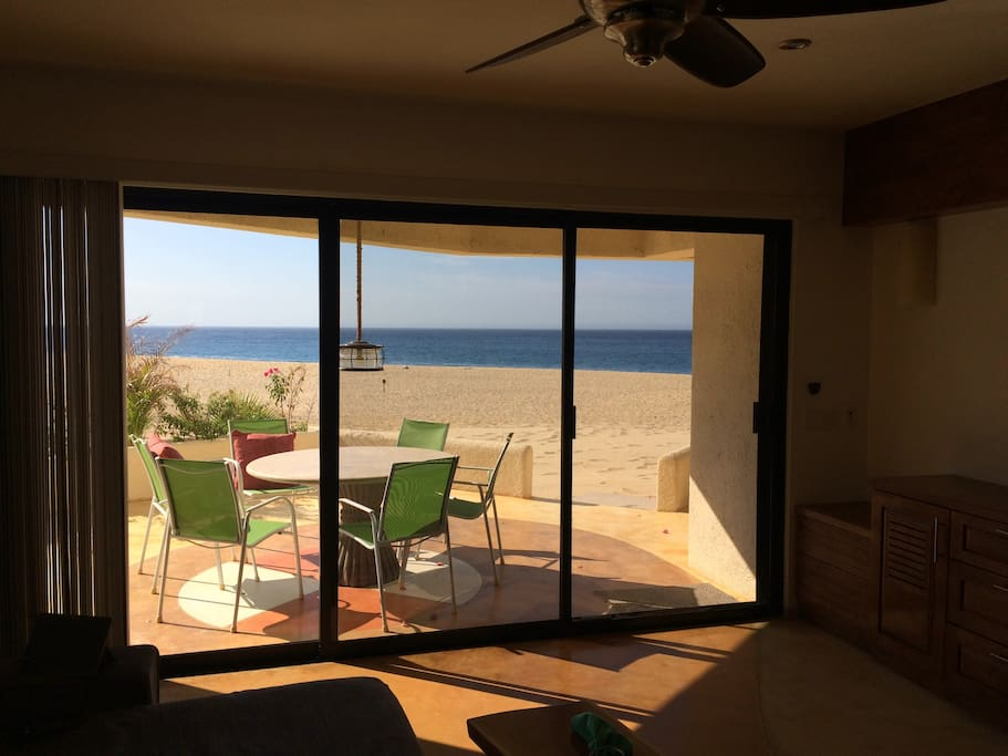 Step off to the sand from our three patios