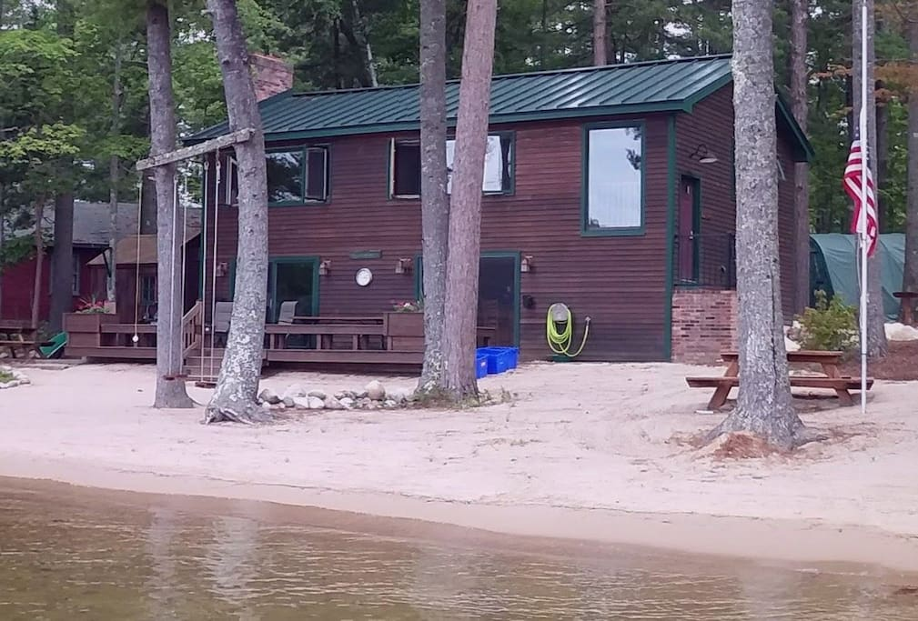 Nice sandy beach and the water is just 40' from the house.