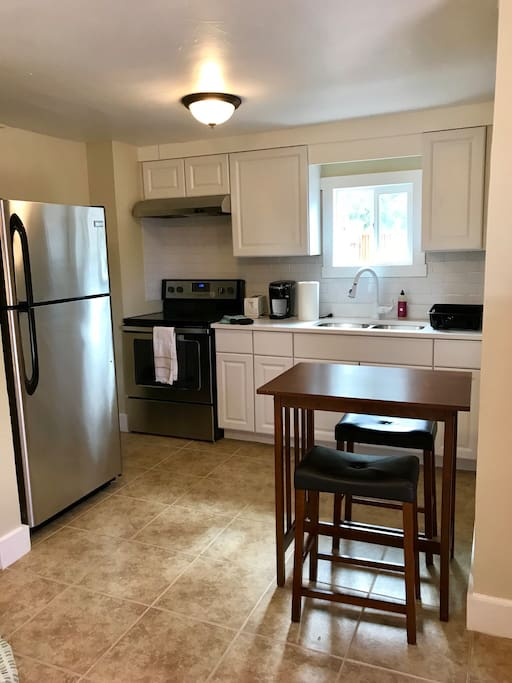 Newly renovated kitchen with brand new appliances.