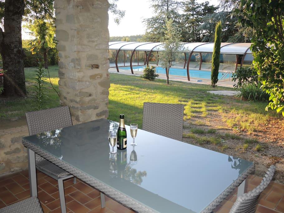 Beau g te avec piscine maisons louer pont de barret for Gite auvergne avec piscine