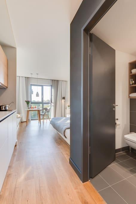furnished studio in berlin karlshorst flats para alugar em berlim berlim alemanha. Black Bedroom Furniture Sets. Home Design Ideas
