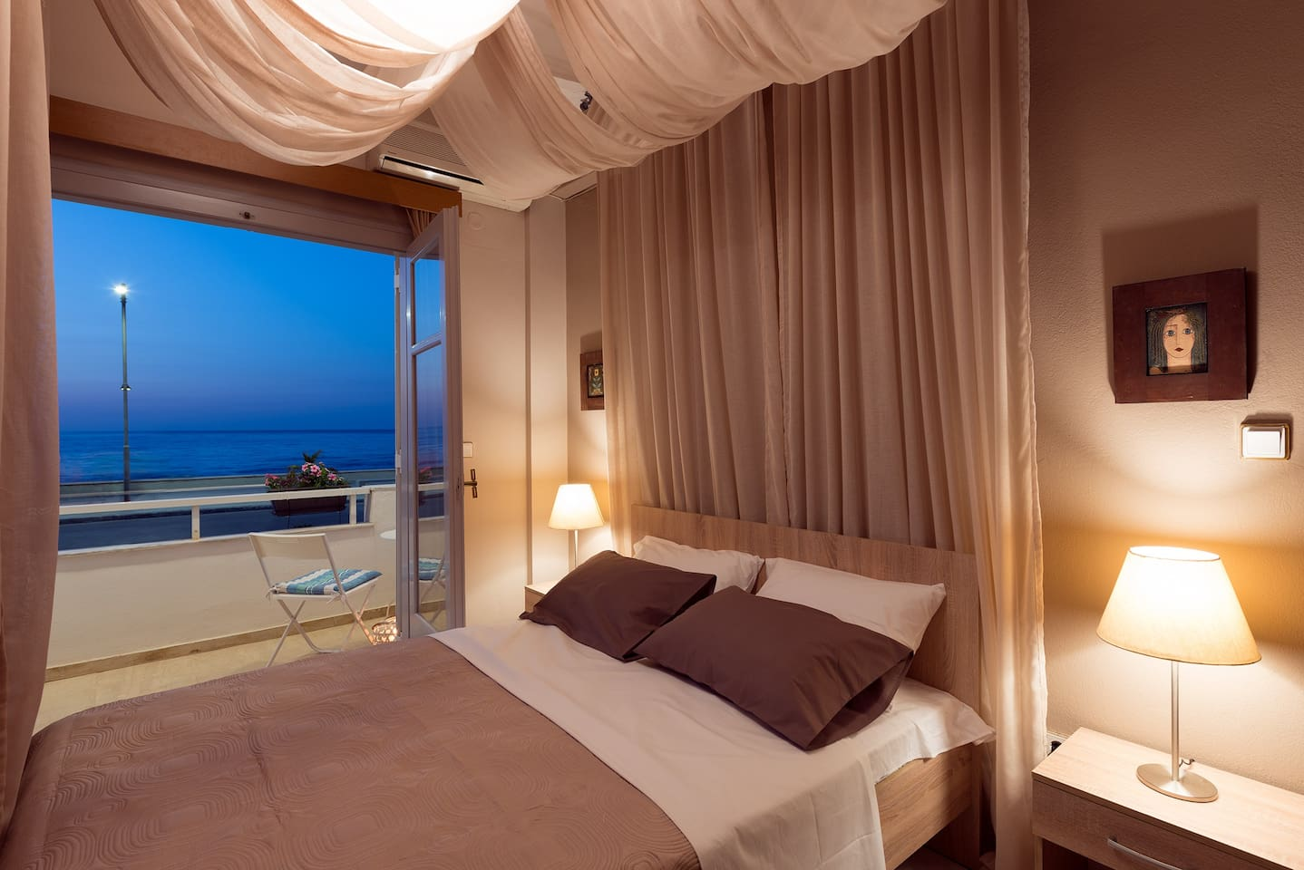 GREAT SEA VIEW AT NIGHT FROM MAIN BEDROOM