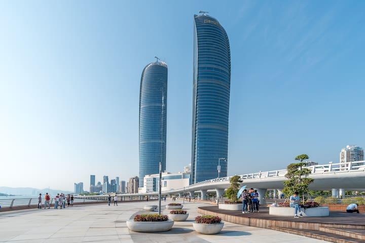 厦门大学对面精致两房,可步行至各大景点 near Xiamen University/beach