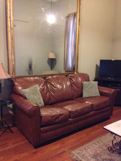 Fold out Sleeper sofa in Living Room