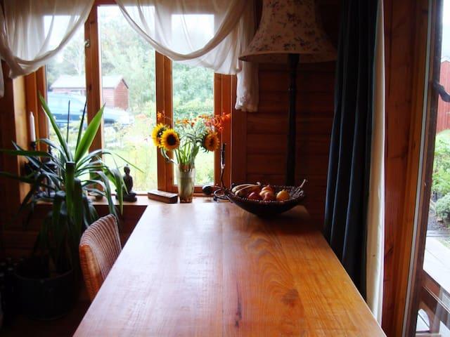 Breakfast table at A'Chuibheall