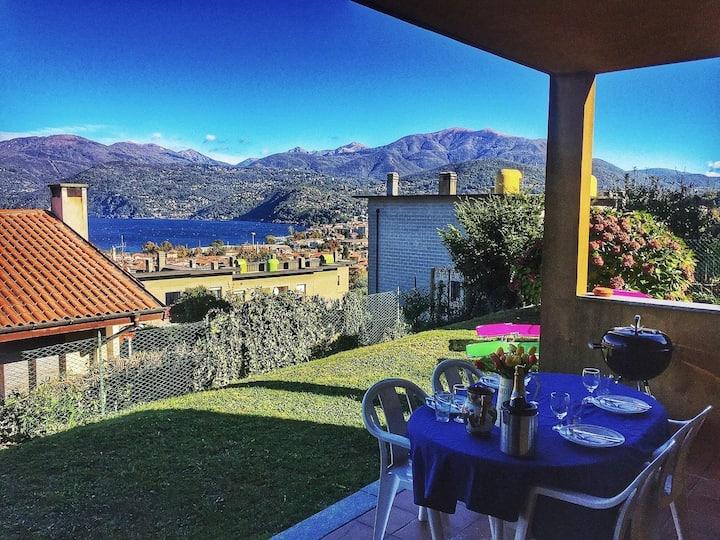 Graziella 2 partment with terrace and garden in Germignaga