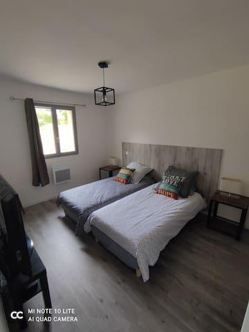 Chambre double ou 2 lits séparés