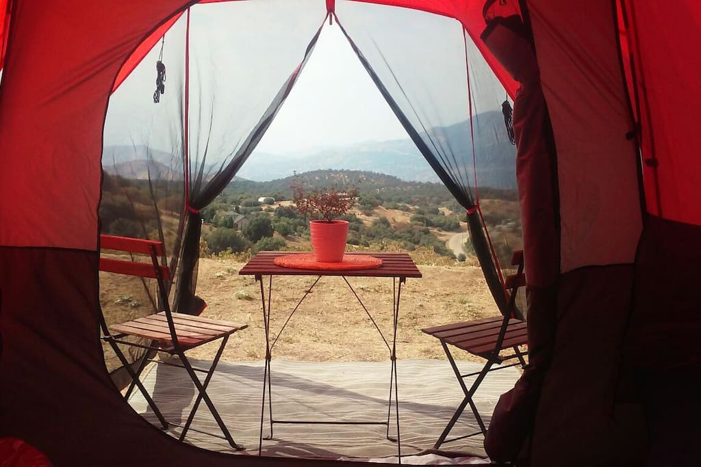 Scenic views from our tents