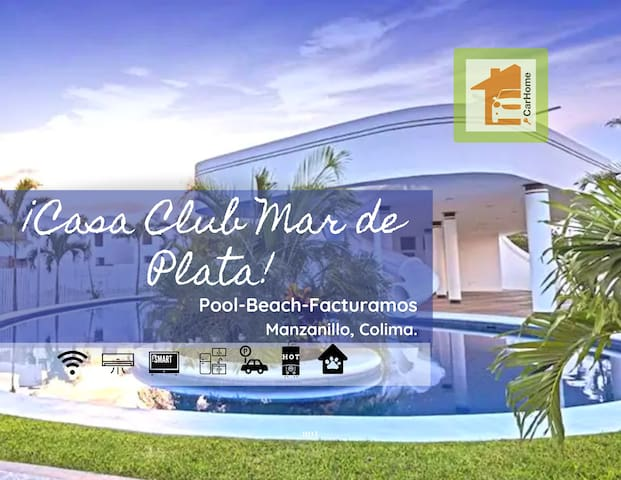 Clean house, pool, 8min beach, ACC facturamos