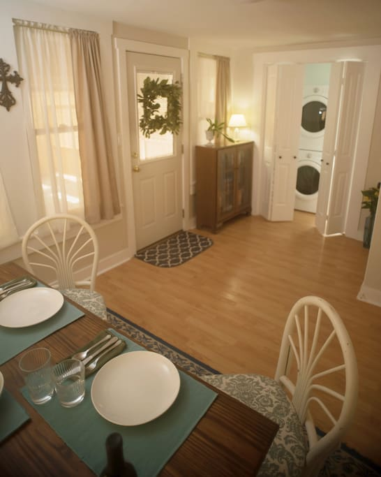 dining and laundry rooms