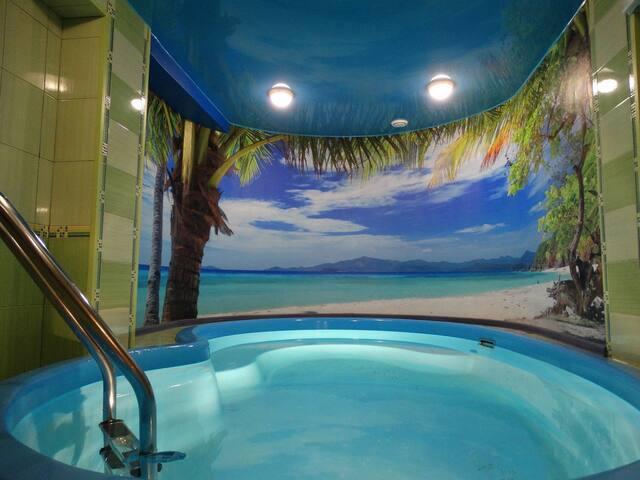 Апартаменты с сауной и бассейном Робинзон