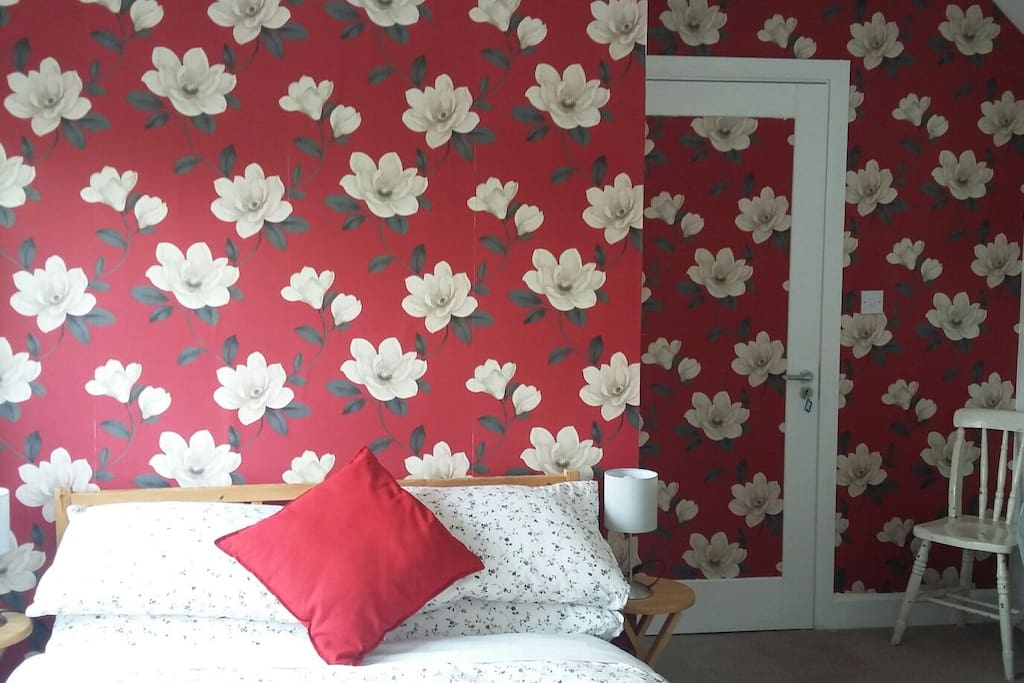 Funkily decorated bedroom