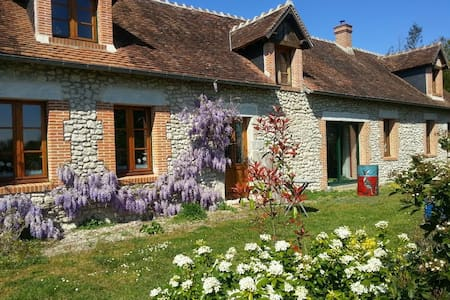 old restored farm cottage on bike lane to castles - Mont-prés-Chambord - Hus