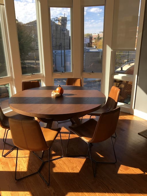 Dining Table w/  turret windows