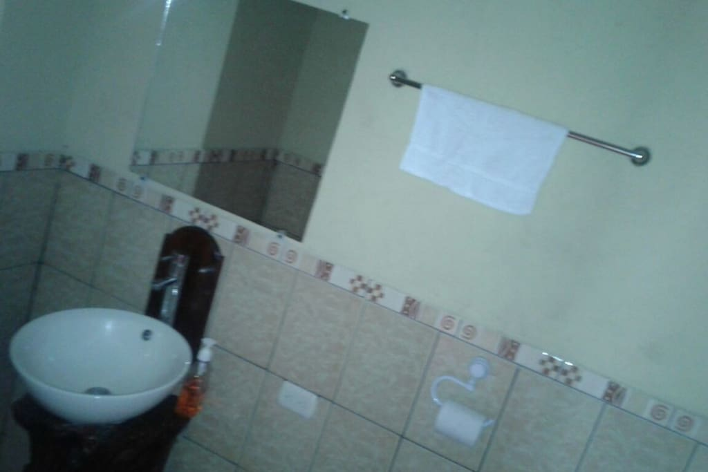 this is a picture of a bathroom from one of the double rooms we offer.