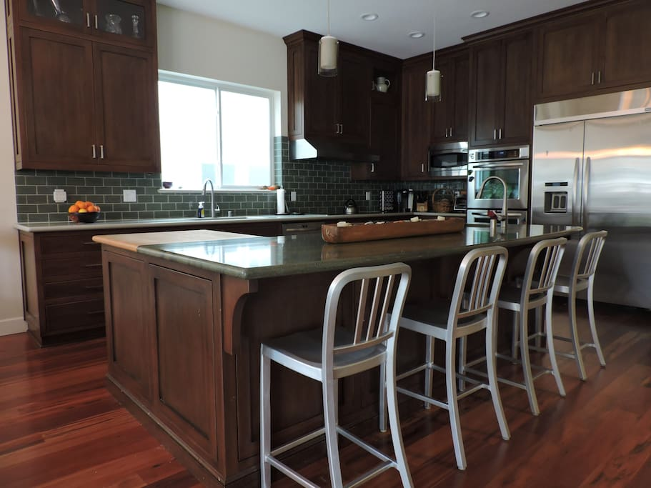 Kitchen and Island Seating Area