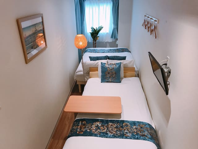 ★Free WiFi★ 2-bed for 3 people#1004