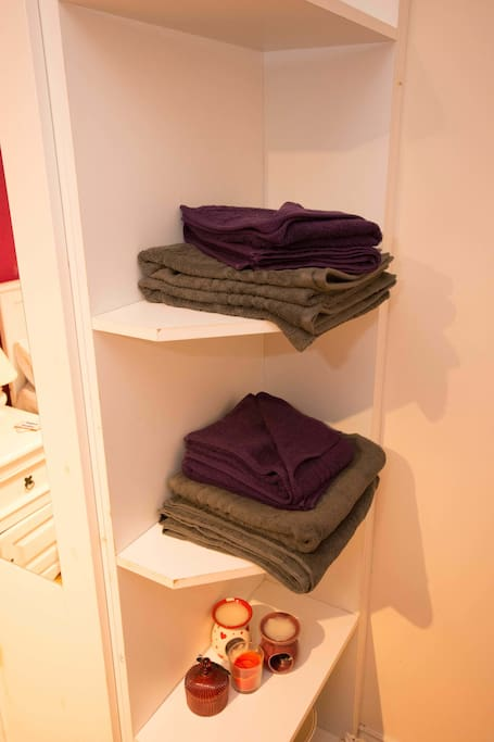 Clean towels provided for your stay