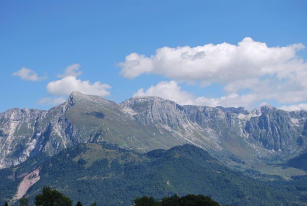 Julian Alps view from Matajur