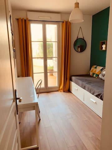 chambre lit double 160cm