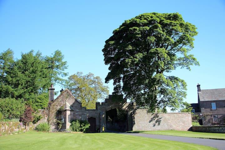 Entrance to Stafford House, Blencathra Lodge and Pennine Lodge.