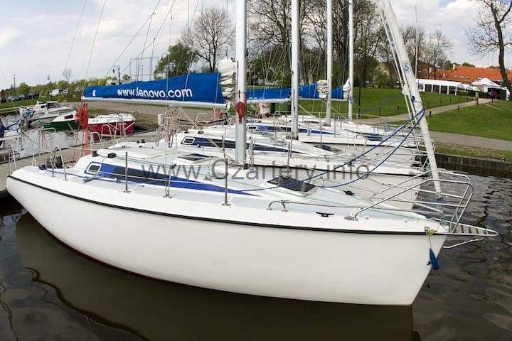 Sailing yacht in city center - Giżycko - Boot