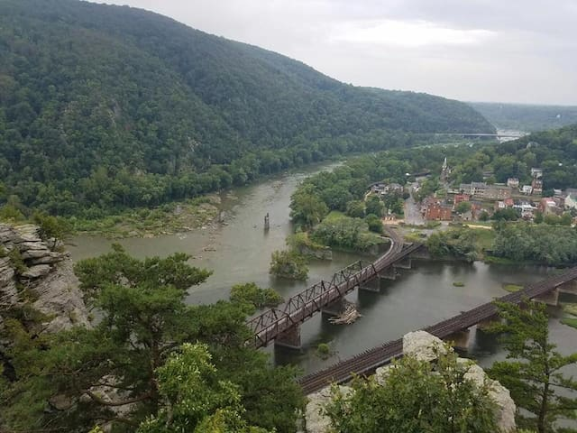 View of Harper's Ferry, Potomac River, and Shenandoah River from Maryland Heights