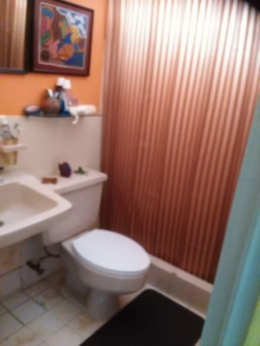 Este es el baño contiguo a la habitaciòn