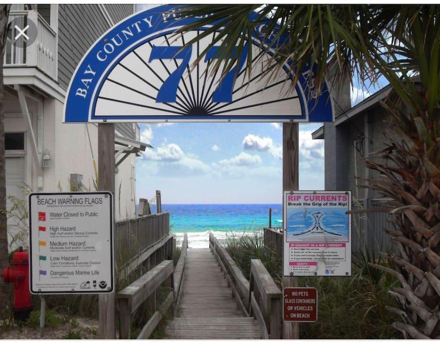 Boardwalk beach access for walking visitors